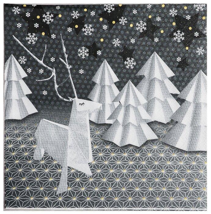 """Купить Салфетки бумажные """"Новогоднее оригами"""" 33х33 см, набор 20 шт 4309443 по низкой цене с доставкой из Яндекс.Маркета (бывший Беру)"""