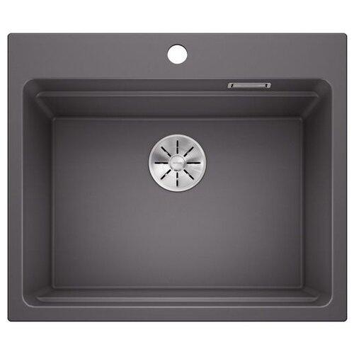 Врезная кухонная мойка 60 см Blanco Etagon 6 Silgranit PuraDur темная скала фото