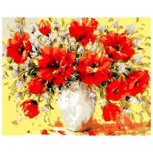 Фото - Картина по номерам Букет маков, 30х40 см цветной картина по номерам белый тигр 30х40 см me1072