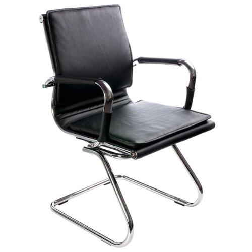 Стул Бюрократ CH-993-LOW-V, металл/искусственная кожа, цвет: черный офисный стул бюрократ t 8010 low v