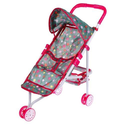 Купить Прогулочная коляска Yako Салют M7285 зеленый/розовый, Коляски для кукол