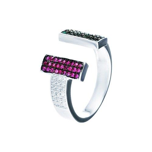 JV Кольцо с фианитами из серебра WR25599-BM-001-WG, размер 17 jv женское серебряное кольцо с куб циркониями в позолоте wr22790 bm 001 vr 16 5