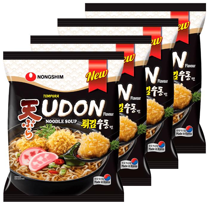 Купить Лапша быстрого приготовления Темпура Удон Nongshim, пачка 118 г х 4 шт по низкой цене с доставкой из Яндекс.Маркета