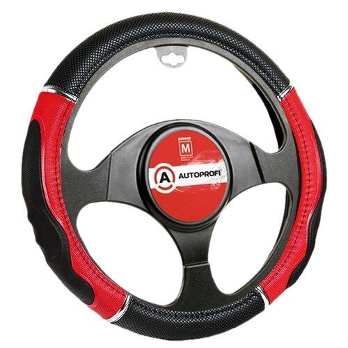 Оплетка/чехол AUTOPROFI GL-1020 BK/RD (M) черный/красный
