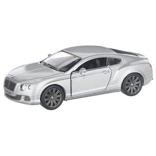 Купить Детская инерционная металлическая машинка с открывающимися дверями, модель 2012 Bentley Continental GT, серебристый, Serinity Toys, Машинки и техника