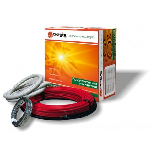 Греющий кабель Oasis 300 1,5-2,7м2 300Вт греющий кабель oasis 1700 8 7 15 3м2 1700вт