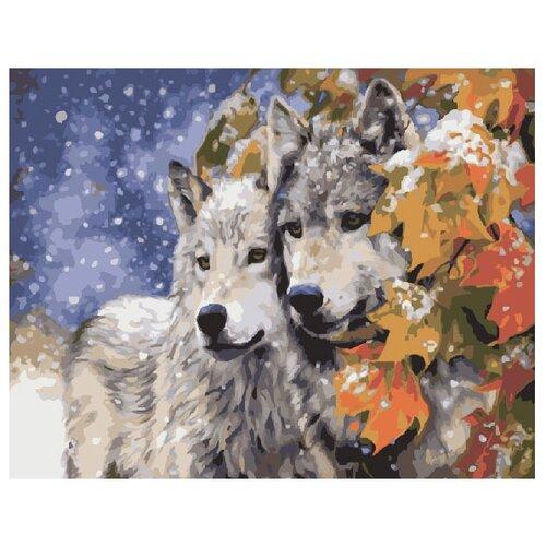 Купить ВанГогВоМне Картина по номерам Волки , 40х50 см (ZX 20051), Картины по номерам и контурам