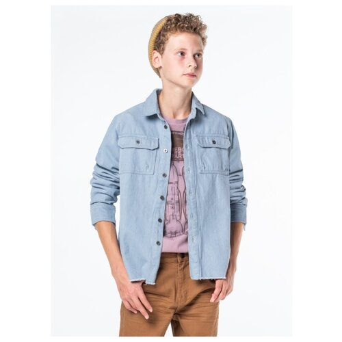 Рубашка Orby размер 158, голубой orby рубашка для мальчика orby