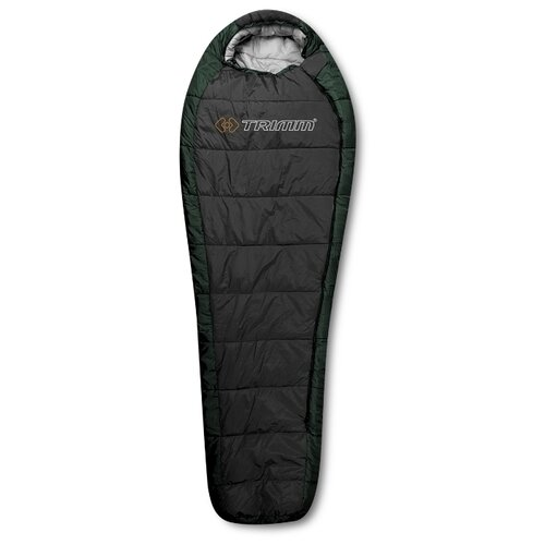 Спальный мешок TRIMM Highlander зеленый с левой стороны