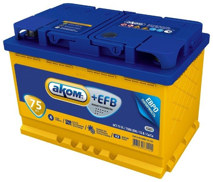 Аккумулятор VARTA Blue Dynamic 65 А/ч 565 411 057 обратная R+ EN 570A 225x173x232 D49 565 411 057 313 2