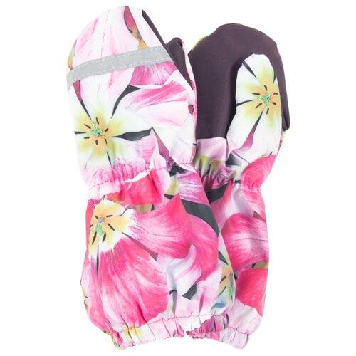 Купить Варежки KERRY K20173 в размер 4, розовый/салатовый, Перчатки и варежки
