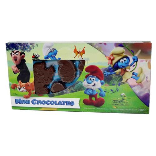 Фигурный шоколад Steenland Смурфики набор фигурок из молочного шоколада