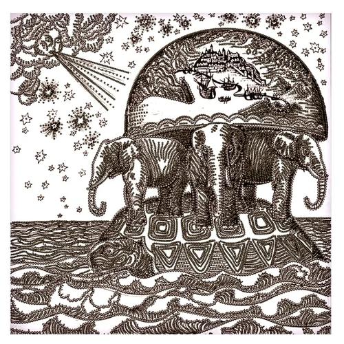 Купить NOVA SLOBODА Набор для вышивания бисером Атланты Земли 25 х 25 см (ДК3237), Наборы для вышивания