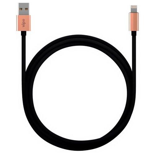 Кабель Vipe USB - Lightning MFI 1 м черный дата кабель vipe usb lightning apple mfi 1м black