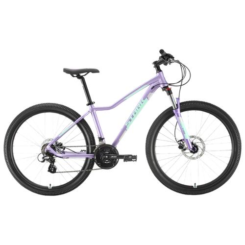 Горный (MTB) велосипед STARK Viva 27.2 HD (2020) фиолетовый/голубой/серебристый 16