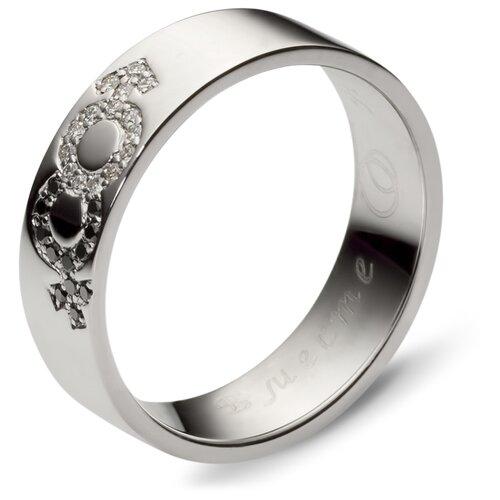 Эстет Кольцо с 30 бриллиантами из белого золота 01О620129, размер 18.5