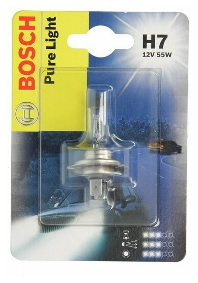 Лампа автомобильная галогенная Bosch Pure Light 1987301012 H7 12V 55W 1 шт.