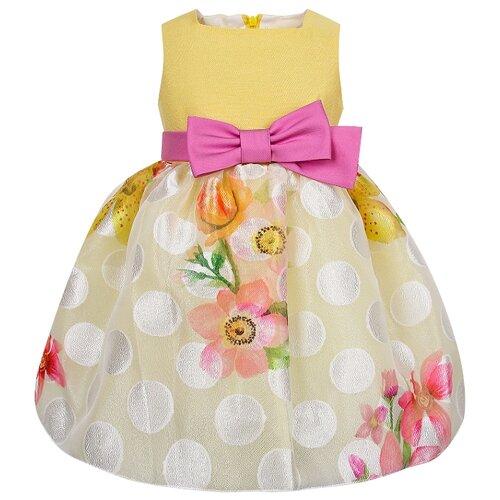 Платье ColoriChiari размер 104, желтый платье smena размер 104 56 синий желтый