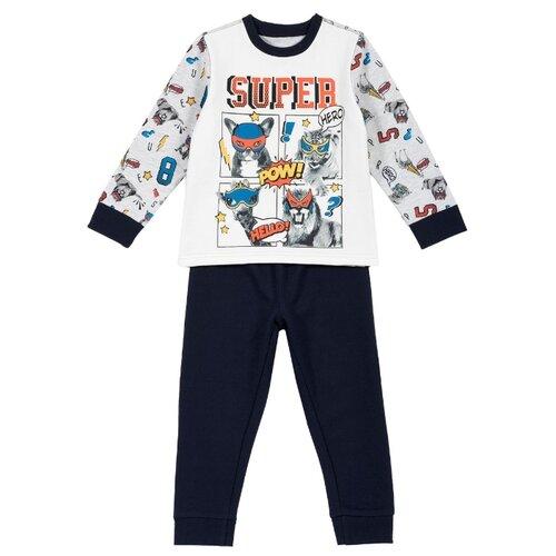 Пижама Chicco размер 92, темно-синий олимпийка chicco размер 92 темно синий