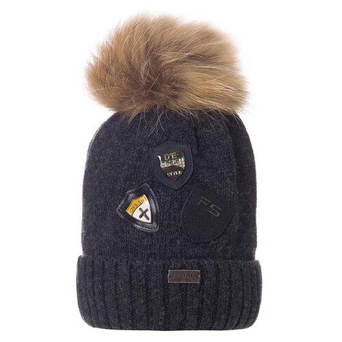 Шапка Trestelle размер 54/56, темно-серый шапка ignite цвет серый 018 hiphop stripe размер 54 56