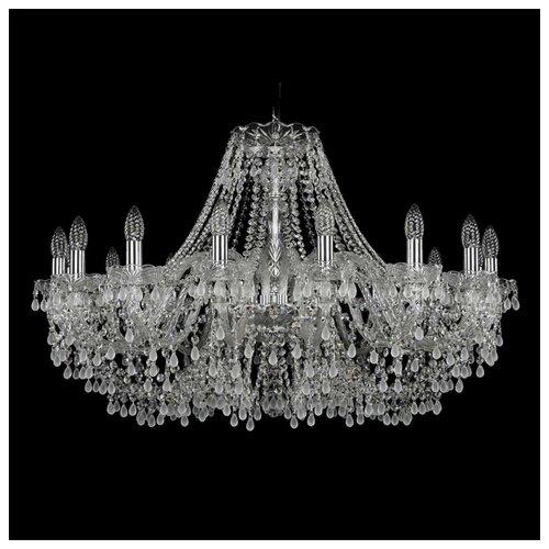 Люстра Bohemia Ivele Crystal 1410/16/360/Ni/V0300, E14, 640 Вт bohemia ivele crystal 1410 6 160 ni v0300 sh2