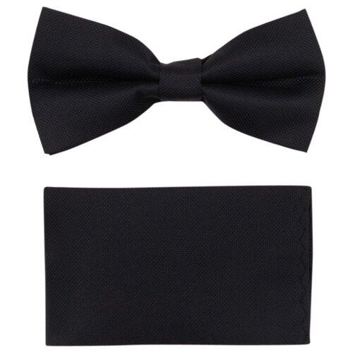 Комплект из 2 предметов OTOKODESIGN галстук-бабочка и платок 537/560 черный