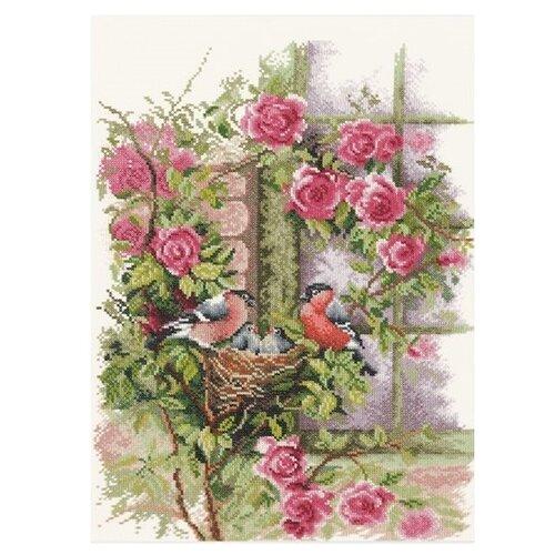 Купить Lanarte Набор для вышивания Гнездящиеся птицы на плетистой розе 29 x 39 см (0008020-PN), Наборы для вышивания
