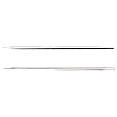 Купить Спицы Knit Pro съемные Nova Metal 10428, диаметр 6 мм, длина 9.5 см, серебристый