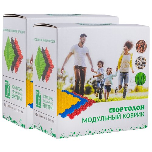 Детский модульный массажный коврик ОРТОДОН, набор Mix №6 (6 пазлов) + Детский модульный массажный коврик ОРТОДОН, набор Mix №6 (6 пазлов)