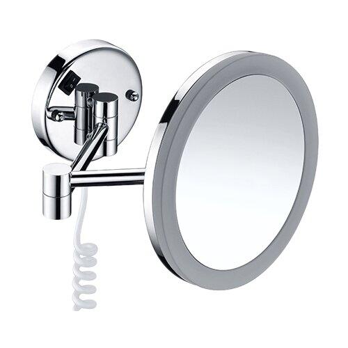Зеркало косметическое настенное WasserKRAFT K-1004 с подсветкой хром