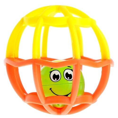 Купить Развивающая игрушка Азбукварик Музыкальный мячик Хохотуша оранжевый/желтый, Развивающие игрушки