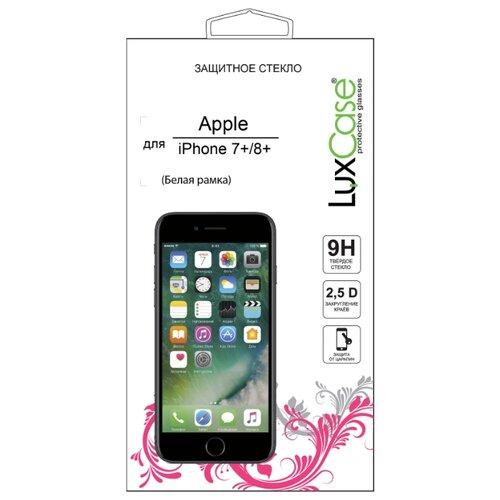 Защитное стекло LuxCase 2.5D FG для Apple iPhone 7 Plus/8 Plus белый аксессуар защитное стекло luxcase 0 33mm для apple iphone 8 7 6 6s 82061
