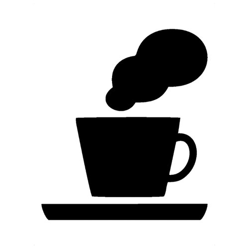 Наклейка Melcom Чашка чая, меловая наклейка