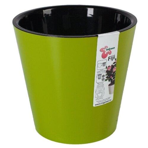 Горшок InGreen Фиджи ING1554, 4 л, 20х18.3 см салатовый набор садовых инструментов ingreen цвет салатовый 4 предмета