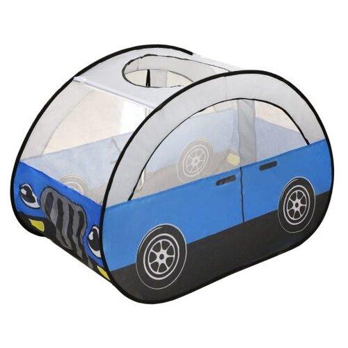 Палатка Наша игрушка Машинка 985-Q78 синий/белый/черный игрушка