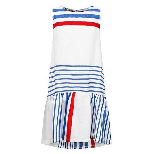 Платье Dixie размер 128, белый/полоска