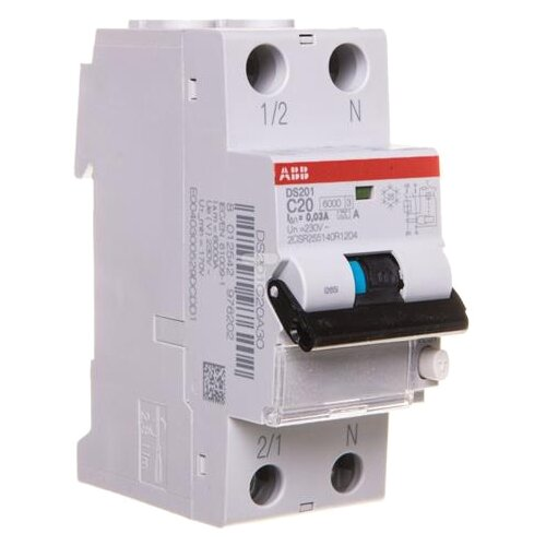 Дифференциальный автомат ABB DS201 2П 30 мА C 6 кА AC 20 А