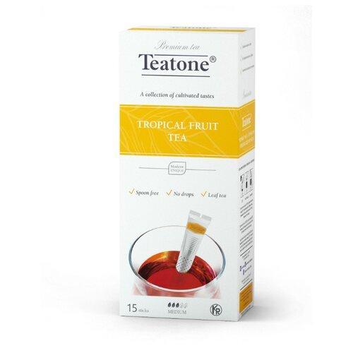 Чай черный Teatone с ароматом тропических фруктов в стиках, 15 шт. earl grey чёрный чай с ароматом бергамота teatone в стиках для разовой заварки 100шт 1 8г