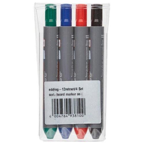 Купить Edding Набор маркеров для доски Retract 12, 4 шт., Маркеры