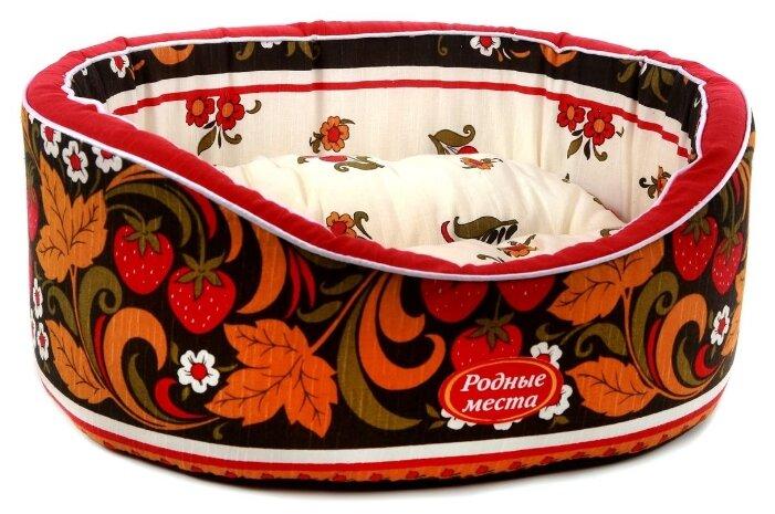 Лежак для животных Родные места Премиум Хохлома, 49х43х17, (0,5 кг)