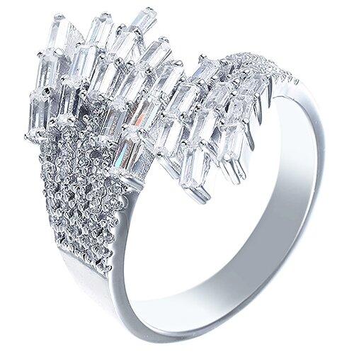 ELEMENT47 Кольцо из серебра 925 пробы с кубическим цирконием DM2386R_KO_001_WG, размер 18