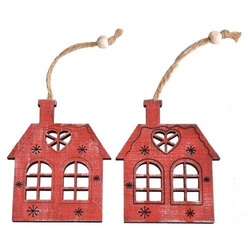 Набор елочных игрушек Breitner 22-4846/22-4846C, красный, 2 шт. по цене 1 274