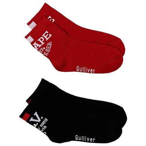 Носки Gulliver Baby комплект 2 пары размер 18-20, красный/черный