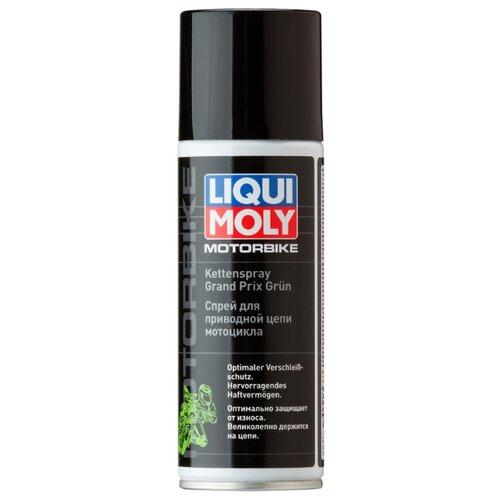 Смазка для мототехники LIQUI MOLY Kettenspray Grand Prix Grun 0.2 л смазка liqui moly pflege und gleispray для ухода за пластмассами 0 4 л