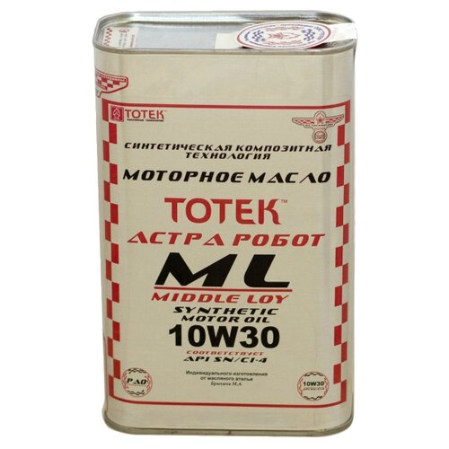 Синтетическое моторное масло TOTEK Астра Робот ML SAE 10W30, 1 л