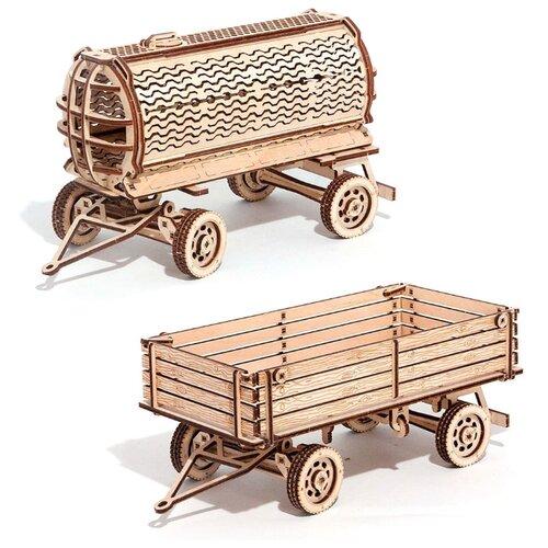 Сборная модель Wood Trick Набор прицепов к трактору (1234-29)