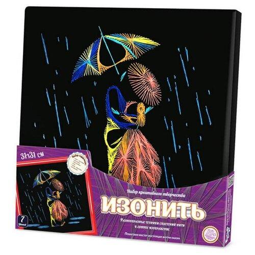 Купить Danko Toys Набор для вышивания Изонить Под зонтом 31 х 31 см (IZN-01-09), Наборы для вышивания