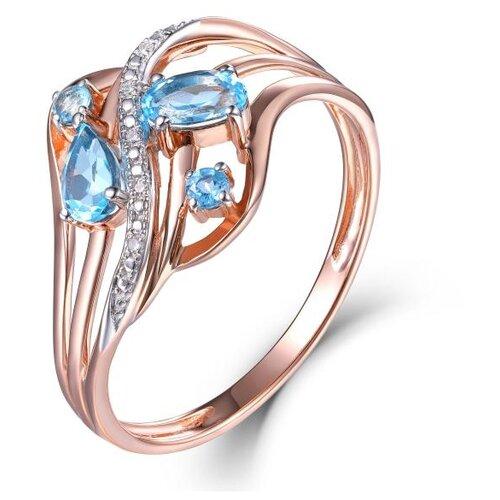 Бронницкий Ювелир Кольцо из красного золота R01-D-70641R002-R17, размер 17 бронницкий ювелир кольцо из красного золота r01 d 1983089ab r17 размер 17