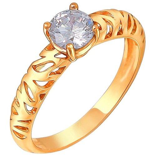 Эстет Кольцо с 1 фианитом из серебра с позолотой 01К156530А, размер 16 эстет кольцо с 1 фианитом из серебра 01к155750 размер 16 5