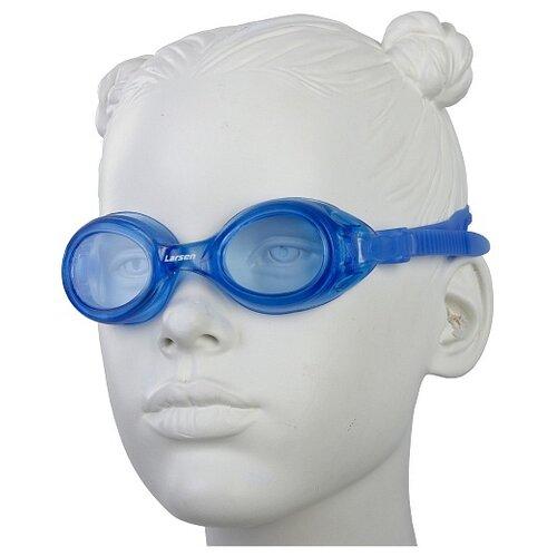 Фото - Очки для плавания Larsen DS7 синий очки для плавания larsen dr g101 черный